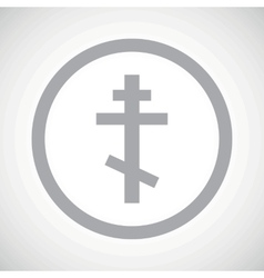 Grey orthodox cross sign icon vector