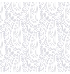 Hand drawn seamless pattern in black and white vector image