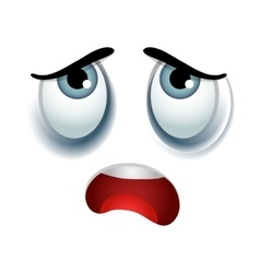 Tired emoticon sign vector image