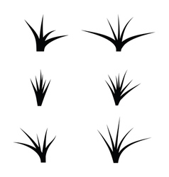 Black silhouette of grass vector