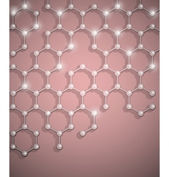 Molecular structure background vector