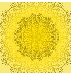 Circle lace ornament vector