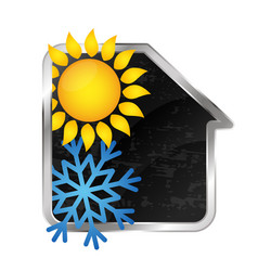 Air conditioning and heating at home vector
