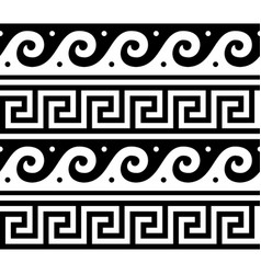Ancient greek seamless pattern - tradional vector