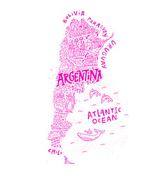 argentinian cartoon map vector image