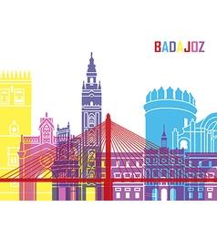 Badajoz skyline pop vector image vector image