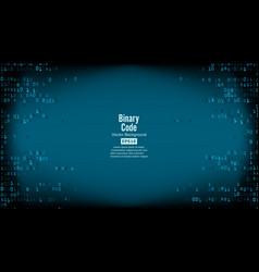 binary code background high-tech matrix vector image