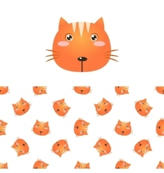 Cat head icon and pattern vector