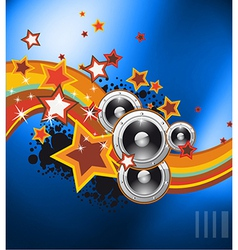 Club party flyer for music event vector image vector image