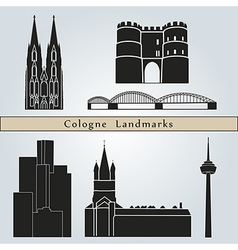 Cologne landmarks and monuments vector image vector image