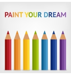 colored rainbow pencils background vector image vector image