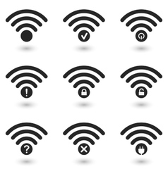 Creative WiFi Icons Set vector image vector image