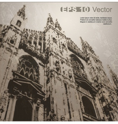 Facade of milan cathedral vector