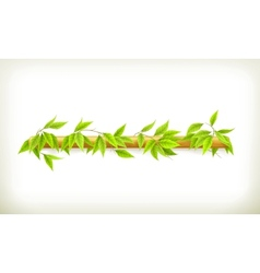 Foliage banner vector image