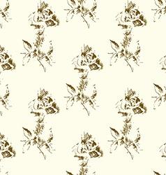Grunge Rose Pattern2 vector image