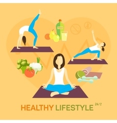 Healthy life diet vector