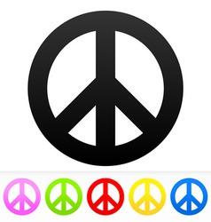 Hippie Peace Symbol vector image vector image