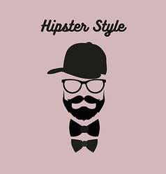 Hipster bearded man vector image vector image