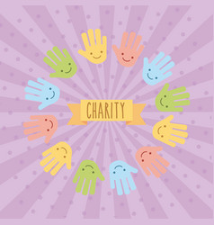 icon set children donate vector image