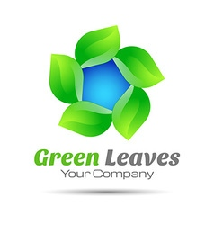 Leaf logo design template for your business vector