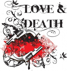 love and death vector image vector image