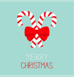merry christmas candy cane two peppermint stick vector image vector image