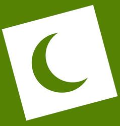 Moon sign white icon vector