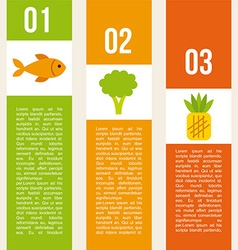 nutritional food design vector image vector image