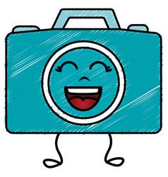 Photographic camera kawaii character vector