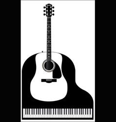 piano and guitar vector image vector image