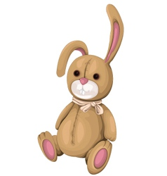 Plush Bunny vector image vector image