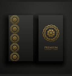 Premium dark mandala decoration banners card vector