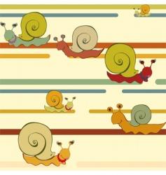 retro snail vector image vector image