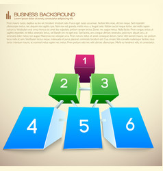 Rows of blocks business infographics vector