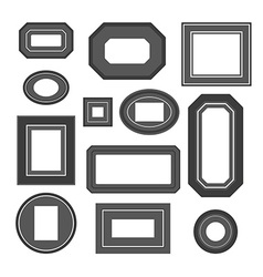 Set of black and white frames vector image