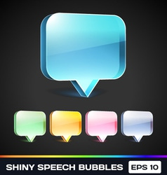 Shiny Speech Bubbles vector image