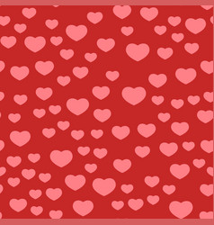 Simple red heart sharp seamless pattern and vector