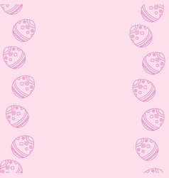 Soft pink background with easter eggs vector