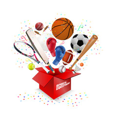 Sports equipment collection vector