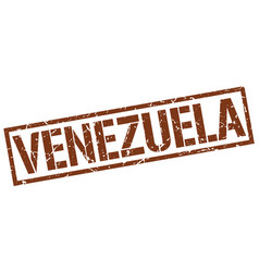 Venezuela brown square stamp vector