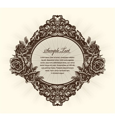 Vintage label with roses vector