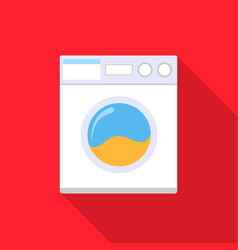 Washer flat icon for web and mobile vector
