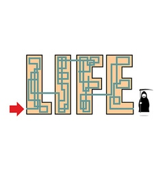 Way of life ends in death At end of life seen Grim vector image
