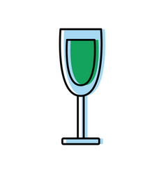 wine glass cup drink alcohol beverage icon vector image vector image