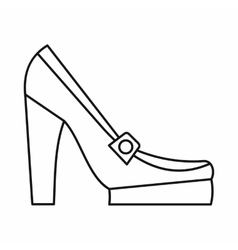Women shoes on platform icon outline style vector image vector image