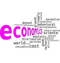 Word cloud economics vector