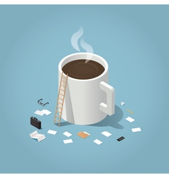 Coffee time at work vector image