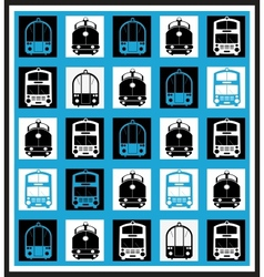 Transportation mosaics vector