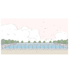 Outdoor swimming pool vector