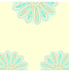 Summer ethnic card template vector image